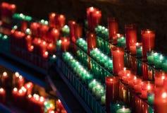 Kaarsen in de schaduw Royalty-vrije Stock Afbeelding