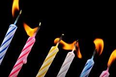 Kaarsen in een rij Royalty-vrije Stock Foto's