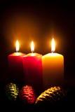 Kaarsen en bont-boom speelgoed Royalty-vrije Stock Foto