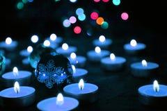 Kaarsen en de Kerstmisboom Stock Afbeelding