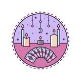 Kaarsen en kaarten Vector illustratie royalty-vrije illustratie