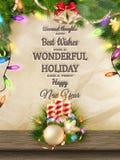 Kaarsen en Kerstmisornamenten Eps 10 Stock Afbeeldingen