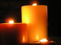 Kaarsen en Romaans Stock Afbeeldingen