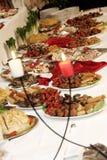 Kaarsen en voedsel Royalty-vrije Stock Fotografie