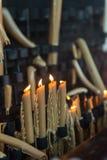 Kaarsen in Fatima, Estremadura Royalty-vrije Stock Afbeeldingen
