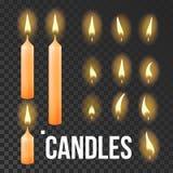 Kaarsen Geplaatst Vector Sinaasappel Godsdienst, Kerkgebed Transparante Achtergrond Geïsoleerde realistische illustratie vector illustratie