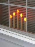 Kaarsen in het Venster Royalty-vrije Stock Foto