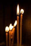 Kaarsen in kerk Royalty-vrije Stock Foto
