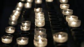 Kaarsen langzame motie stock videobeelden