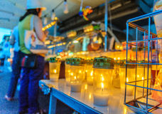 Kaarsen in Luminara Royalty-vrije Stock Fotografie