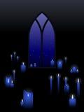 Kaarsen met een venster Stock Afbeeldingen