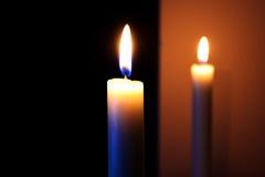 Kaarsen in nadruk Stock Foto