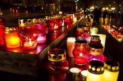 Kaarsen op dag van de hongersnoodslachtoffers in de Oekraïne Stock Fotografie