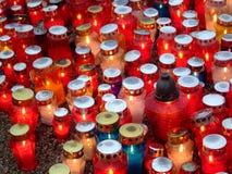 Kaarsen op de regen Royalty-vrije Stock Afbeelding