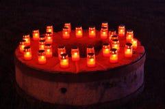 Kaarsen op de steen Stock Afbeelding
