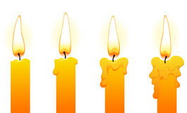 Kaarsen (op wit) Stock Afbeeldingen