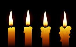 Kaarsen (op zwarte) Stock Foto