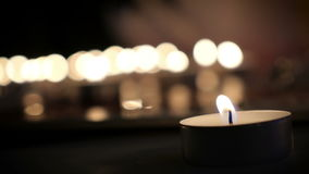 Kaarsen ter plaatse stock videobeelden