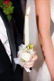 Kaarsen van huwelijksceremonie Royalty-vrije Stock Foto