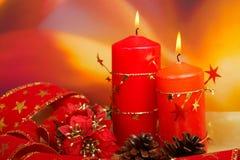 Kaarsen van Kerstmis Stock Afbeelding