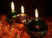 Kaarsen voor Kerstmis Stock Afbeelding