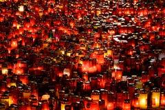 Kaarsenlit in Geheugen van de 32 Dode Mensen en 150 Gewond in de Brand bij Club Colectiv stock foto