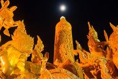 Kaarsfestival van Ubonratchathani Stock Foto's