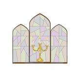 Kaarsgebrandschilderd glas Royalty-vrije Stock Foto's