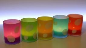 Kaarskruiken kleurrijk trillen, stock videobeelden