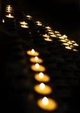 Kaarslicht Royalty-vrije Stock Foto