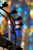 Kaarslicht Royalty-vrije Stock Afbeeldingen