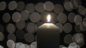 Kaarslicht met bokeh stock videobeelden