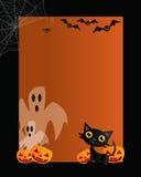 Kaart 01 van Halloween vector illustratie