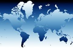 Kaart 02 van de wereld Stock Foto's