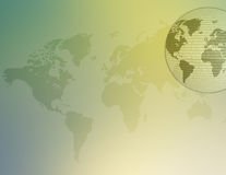 Kaart 03 van de wereld Stock Afbeeldingen