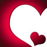 Kaart 2 van de Dag van de valentijnskaart Stock Afbeelding