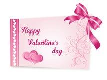 Kaart 2 van de valentijnskaart Stock Foto