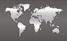Kaart 2 van de wereld Royalty-vrije Stock Afbeeldingen
