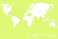 Kaart 2 van de wereld Stock Afbeelding