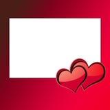 Kaart 3 van de Dag van de valentijnskaart Stock Fotografie