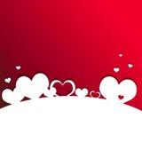 Kaart 5 van de Dag van valentijnskaarten Royalty-vrije Stock Afbeeldingen