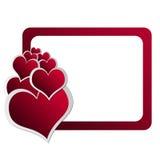 Kaart 6 van de Dag van de valentijnskaart Stock Foto