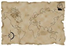 Kaart Stock Afbeelding