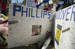 Kaart aan slachtoffers van Phillips Andover Royalty-vrije Stock Afbeeldingen