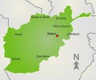 Kaart Afghanistan Stock Afbeeldingen