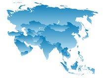 Kaart Azië Stock Afbeeldingen