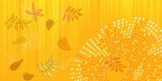 Kaart, banner, behang met de herfstbladeren vector illustratie