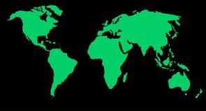 Kaart of bol van wereld stock illustratie