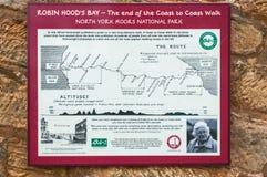 Kaart, de Baai van Robin Hood ` s, Kust aan Kust Gang Royalty-vrije Stock Afbeeldingen