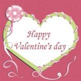 Kaart. De Dag van gelukkig Valentine. Royalty-vrije Stock Foto